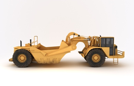 dozer: 3D illustration of isolated earth mover vehicle