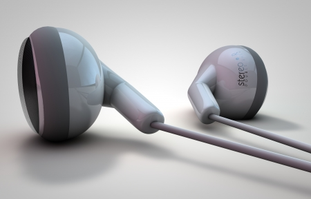 ear buds: 3D rendered illustration of isolated Ear Buds