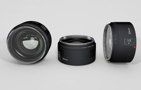 50mm: 3D rendered illustration of 50mm isolated lens
