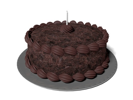 torte: 3D rendered illustration the isolated chocolate cake