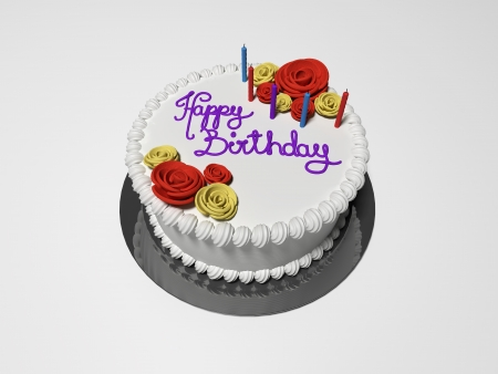 torte: 3D rendered illustration the isolated birthday cake