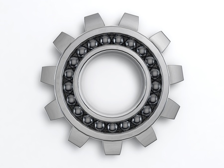 3D Illustration of the rendered  industry steel Cog Stock Photo