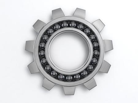 steel industry: 3D Illustration of the rendered  industry steel Cog Stock Photo
