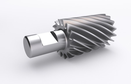 3D Illustration of the rendered industry milling cutter