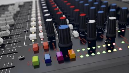 Illustration of the 3D rendered Audio Mixer illustration