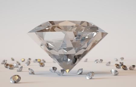 3D rendered illustration of the beautiful diamonds