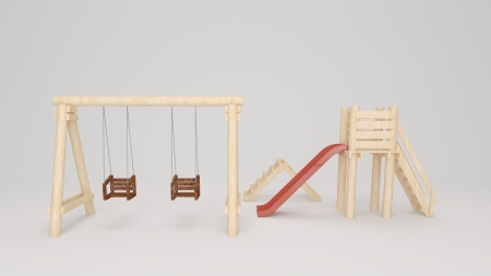 rendered illustration the isolated wooden Playing equipment Stock Illustration - 24749538