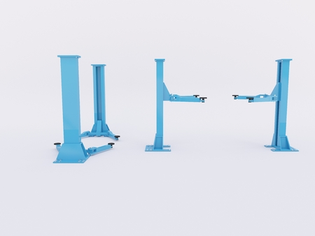 3D rendered illustration at a isolated hydraulic ramp Banco de Imagens