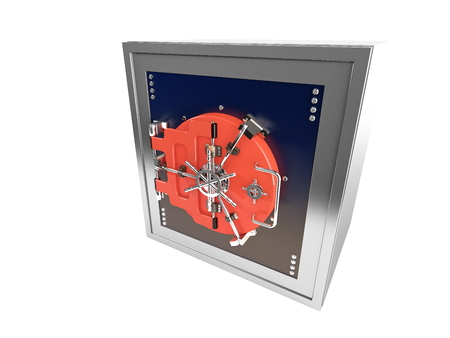 3d rendered illustration of old big Vault isolated illustration