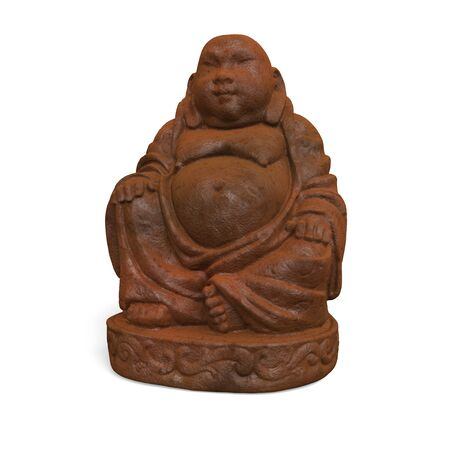 terracotta: 3D rendered illustration of beautiful buddha statue terracotta