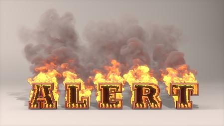 3D rendered illustration of big alert flame  illustration