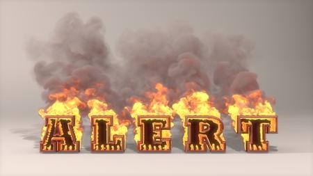 3D rendered illustration of big alert flame  illustration
