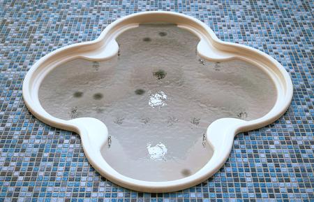 3D computer gegenereerde afbeelding van een Whirlpool Stockfoto