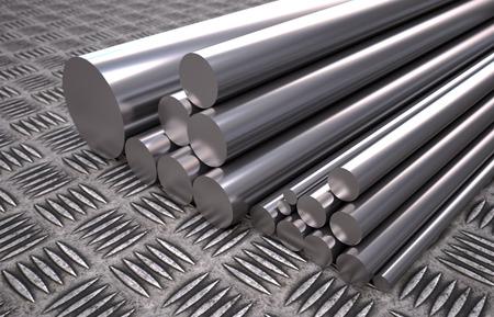 3D computer rendered illustration of round steel profile