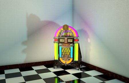 3D Computer rendered illustration of Jukebox