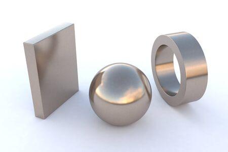 nickel: computer rendered various steel elements in nickel