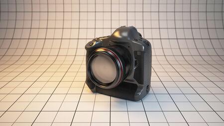 megapixel: 3d rendered illustration highest-end DSLR camera of studio stage