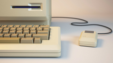 3d rendered illustration of old personal computer Stock Photo