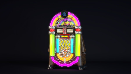 Computer rendered illustration of Realistic detailed JukeBox Stock Illustration - 38560393