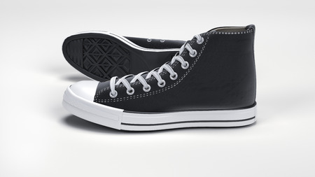 converse: Computer rendered illustration model of classic Converse sneakers Stock Photo