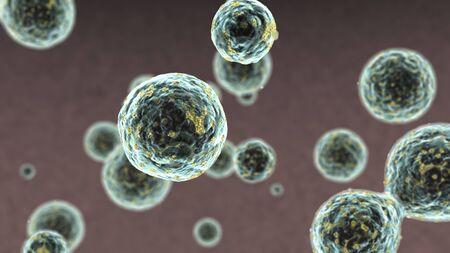 humane: 3D rendered illustration of HIV Cell Model