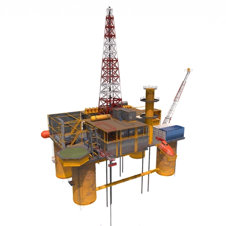 oilrig: 3d computer rendered the Oil platorm isolated