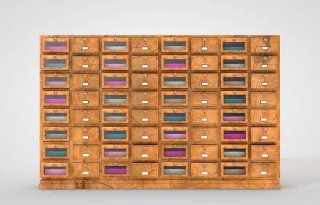 old furniture: 3D computer made old Drawer Furniture Set