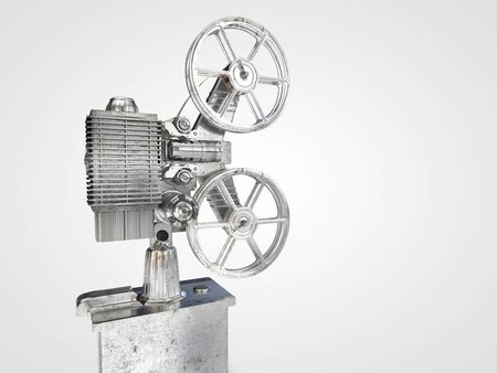 Computer rendered illustration of old Film projector isolated