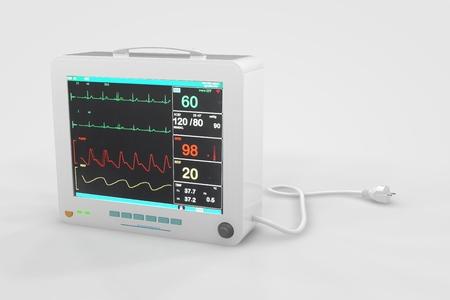 Computer rendered illustration one EKG Heart Rate Monitor