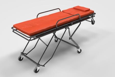 emergency stretcher: Computer rendered illustration one Emergency Stretcher Stock Photo