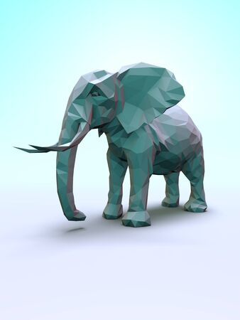 Computer rendered illustration of the Elephant Posters Stock Photo