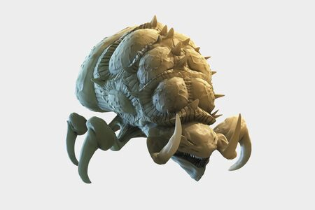 rendered: computer rendered illustration of zerg Baneling front view isolated Stock Photo