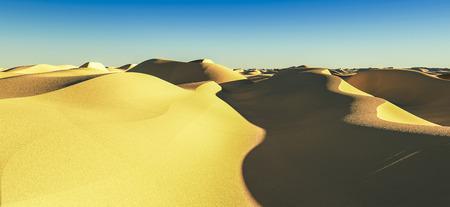 3d rendering of a computer made dessert landscape Stock Photo