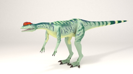 3D Computer rendering illustration of Dilophosaurus Stock Photo