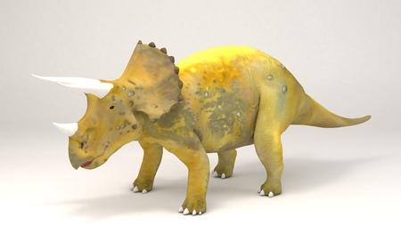 3D Computer rendering illustration of Triceratops-Dinosaur