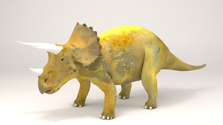 3D Computer rendering illustration of Triceratops-Dinosaur