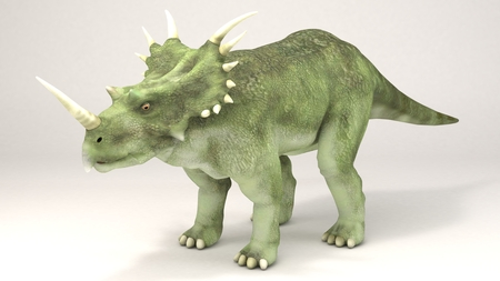 3D Computer rendering illustration of Styracosaurus