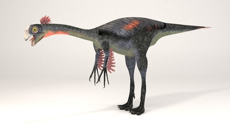 3D Computer rendering illustration of Gigantoraptor Stock Photo