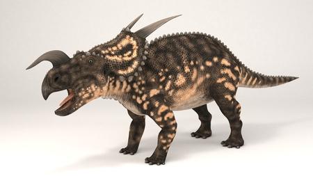 3D Computer rendering illustration of Einiosaurus