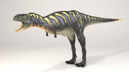 3D Computer rendering illustration of Aucasaurus green Stock fotó