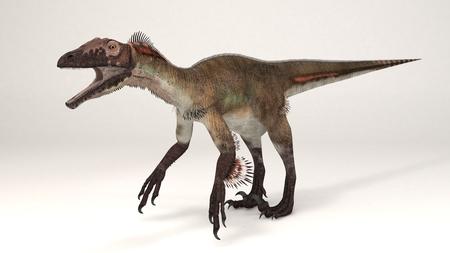 3D Computer rendering illustration of Utahraptor