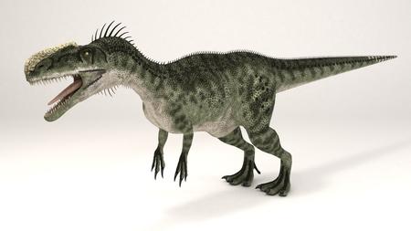3D Computer rendering illustration of Monolophosaurus