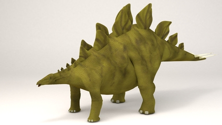 3D Computer rendering illustration of Stegosaurus