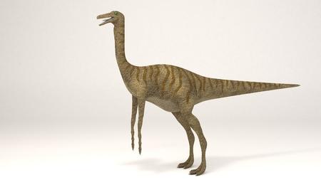 3D Computer rendering illustration of Gallimimus Stock fotó