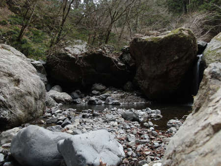 Canyons and clear streams in Okutama, Tokyo Stock Photo