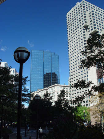 Post Office Square in Boston Massachusetts.