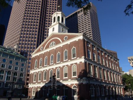 Fanueuil Hall (donated to Boston by Peter Faneuil in 1742) at Dawn in Boston.