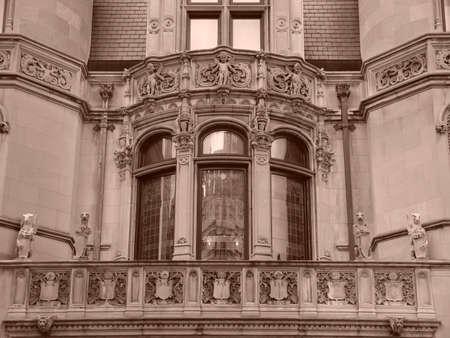 ニューヨークの五番街で造られる家と同様に、それはだったシュノンソー、フランスのロワール渓谷にある城を模したし、の唯一の例を表します、 写真素材