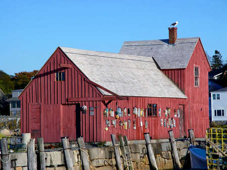 Motif Number One in Rockport Massachusetts.  An old fishing shack found in several artists portfolios. photo