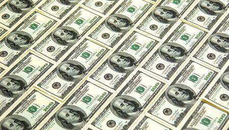 one sheet: background image of 100 dollar bills filling the image